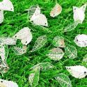 Sequins, white, 9mm x 16mm, 85 pieces, 3g, Leaf shape, Sequins are shiny, [CZP646]